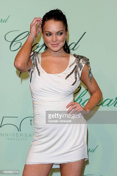 Actress Lindsay Lohan attends the Chopard 150th Anniversary Party at the VIP Room Palm Beach during the 63rd Annual International Cannes Film...