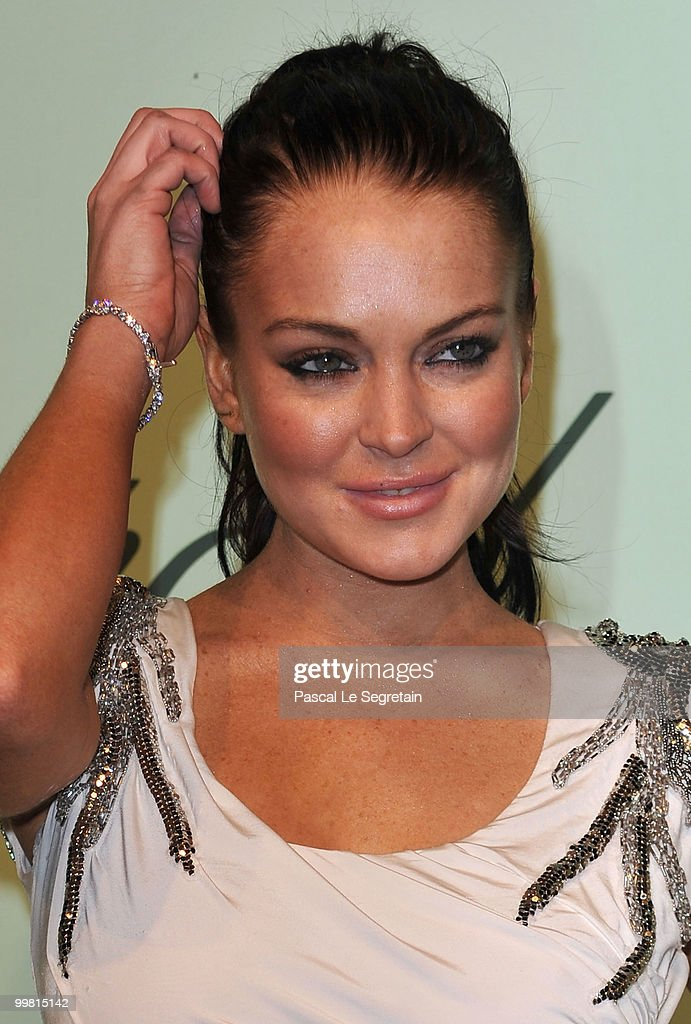 Actress Lindsay Lohan attends the Chopard 150th Anniversary Party at Palm Beach, Pointe Croisette during the 63rd Annual Cannes Film Festival on May 17, 2010 in Cannes, France.