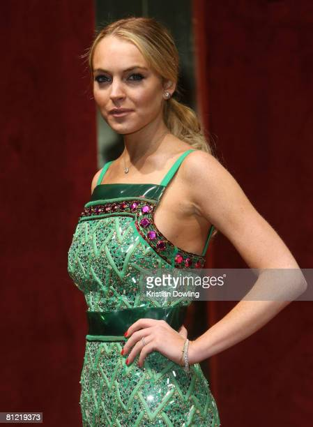 Actress Lindsay Lohan attends the Dolce Gabbana party at Baoli Port Canto during the 61st International Cannes Film Festival on May 23 2008 in Cannes...