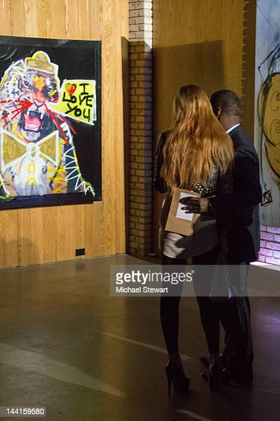 Actress Lindsay Lohan attends the Domingo Zapata Life Is A Dream Art Exhibition at Dream Downtown on May 10 2012 in New York City