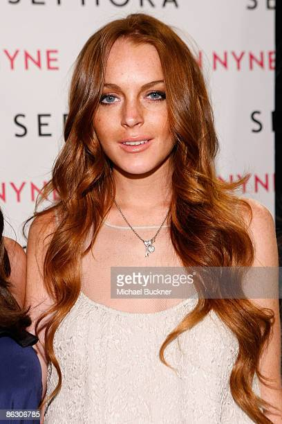 Actress Lindsay Lohan attends the launch of Sevin Nyne By Lindsay Lohan held at Sephora on April 30 2009 in Santa Monica California
