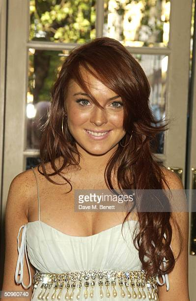 Actress Lindsay Lohan attends the lowkey premiere screening of 'Mean Girls' at the Charlotte Street Hotel June 14 2004 in London The film is about a...