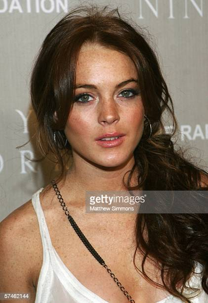 Actress Lindsay Lohan attends the Nina Ricci Fall 2006 Collection fashion show to benefit The Rape Foundation at Barneys New York on April 26 2006 in...