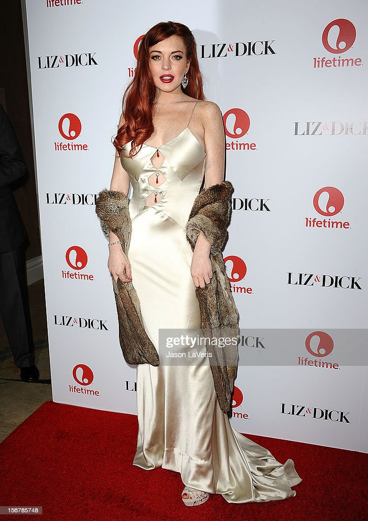 Actress Lindsay Lohan attends the premiere of 'Liz & Dick' at Beverly Hills Hotel on November 20, 2012 in Beverly Hills, California.