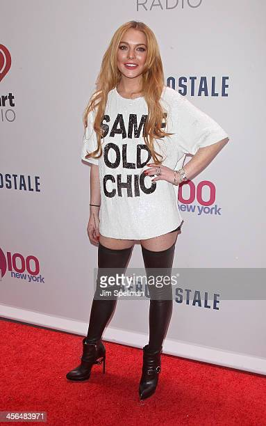 Actress Lindsay Lohan attends Z100's Jingle Ball 2013 at Madison Square Garden on December 13 2013 in New York City