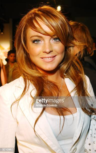 lindsay lohan stock photos and pictures getty images