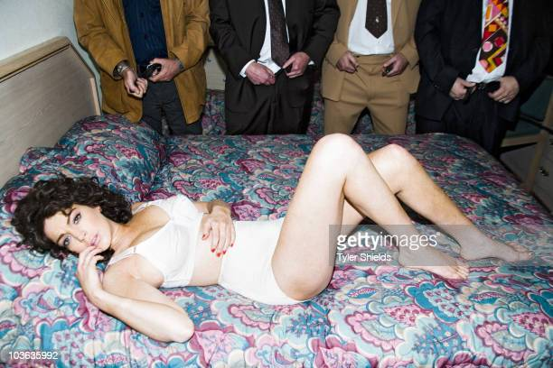 Actress Lindsay Lohan poses for a portrait session in character as Linda Lovelace for her new role in Inferno in Los Angeles for Self Assignment
