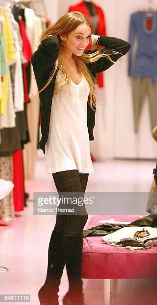 Actress Lindsay Lohan shops in SOHO on February 15 2009 in New York City
