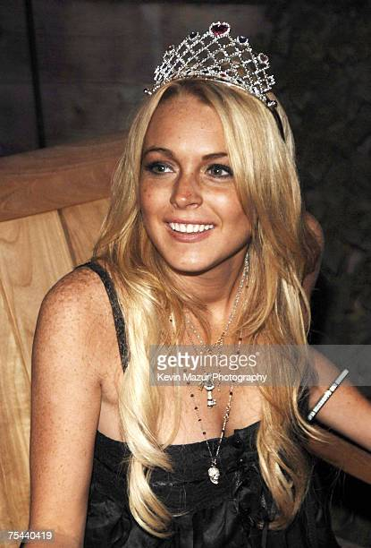 Actress Lindsay Lohan with her birthday cake at her 21st birthday celebration at a private residence in Malibu California on July 2, 2007. *EXCLUSIVE...