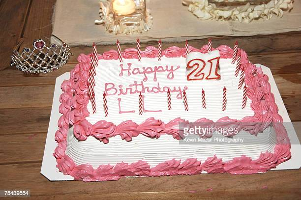 Actress Lindsay Lohan's birthday cake at her 21st birthday celebration at a private residence in Malibu California on July 2, 2007. *EXCLUSIVE -...