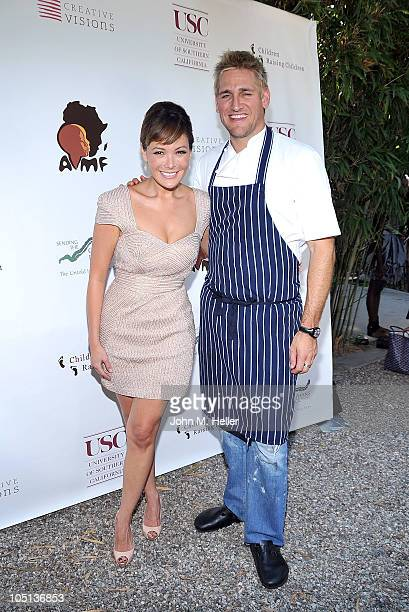 Actress Lindsay Price and chef Curtis Stone attend the 1st Annual Children Raising Children Fundraising Event to benefit the African Millennium...