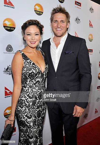 Actress Lindsay Price and TV personality Curtis Stone arrive at the 2013 G'Day USA Los Angeles Black Tie Gala at JW Marriott Los Angeles at LA LIVE...