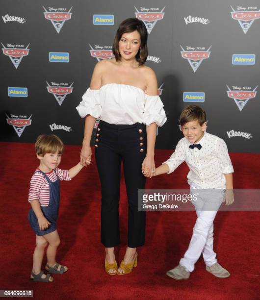 Actress Lindsay Price arrives at the premiere of Disney And Pixar's 'Cars 3' at Anaheim Convention Center on June 10 2017 in Anaheim California