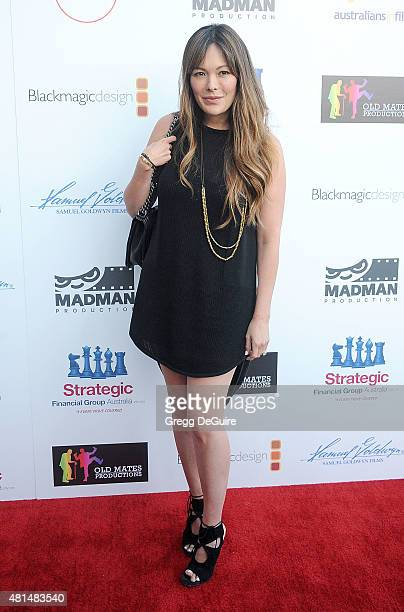 Actress Lindsay Price arrives at the premiere Of That Sugar Film hosted by Australians In Film on July 20 2015 in Los Angeles California