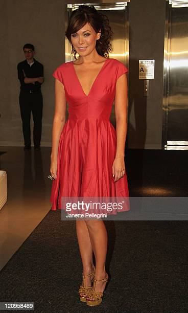Actress Lindsay Price attends 6119 Maurice Ilana Sunderland Spring 2009 Presentation at The Glass Houses on September 4 2008 in New York City