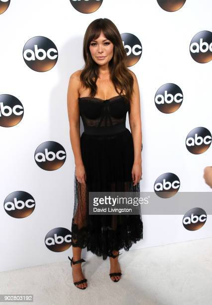 Actress Lindsay Price attends Disney ABC Television Group's TCA Winter Press Tour 2018 at The Langham Huntington Pasadena on January 8 2018 in...