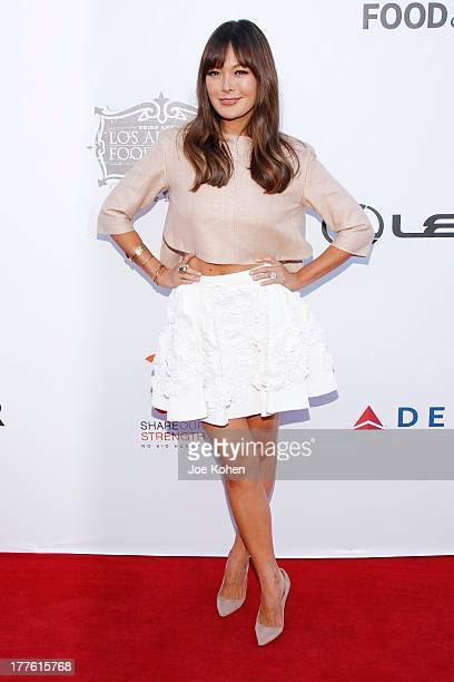 Actress Lindsay Price attends LEXUS Live On Grand At The 3rd Annual Los Angeles Food Wine Festival on August 24 2013 in Los Angeles California