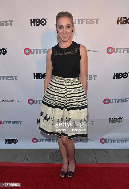 """Actress Lindsay Seim arrives to the Outfest Fusion LGBT People of Color Film Fetival Opening Night Screening of """"Blackbird"""" at the Egyptian Theatre..."""