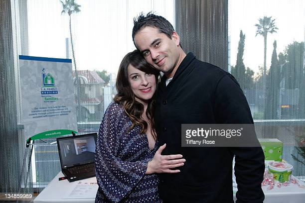 Actress Lindsay Sloane and Dar Rollins attends the Working Elves' First Annual Santa's Secret Workshop Benefitting LA Family Housing at Andaz Hotel...
