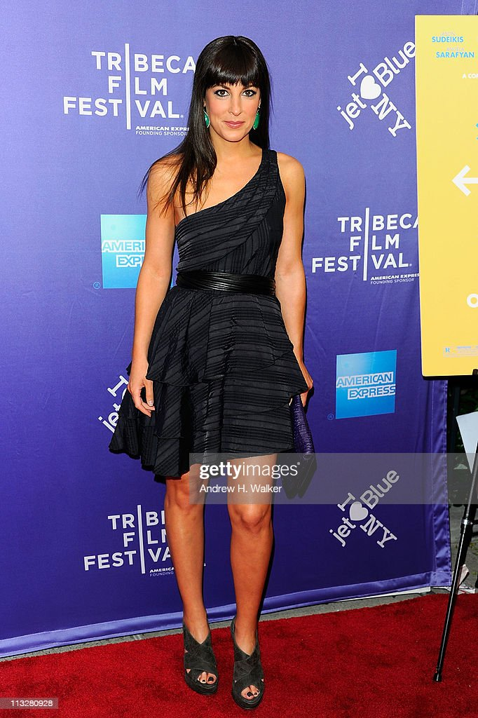 Actress Lindsay Sloane attends the premiere of 'A Good Old Fashioned Orgy' during the 2011 Tribeca Film Festival at SVA Theater on April 29, 2011 in New York City.