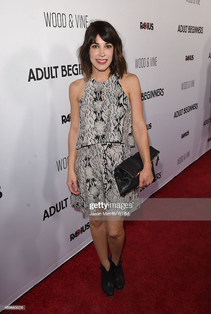 Actress Lindsay Sloane attends the premiere of 'Adult Beginners' at ArcLight Hollywood on April 15, 2015 in Hollywood, California.