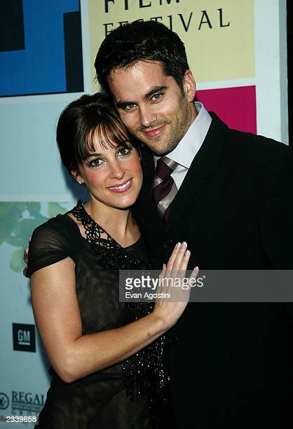 Actress Lindsay Sloane with boyfriend Dar Rollins attend the world premiere of 'The InLaws' during the 2003 Tribeca Film Festival at the Tribeca...