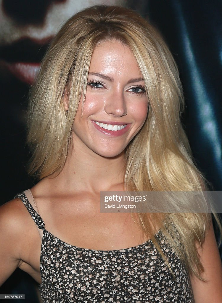 Actress Lindsay Taylor attends the kickoff for Max Schneider's 'Nothing Without Love' summer tour at the Roxy Theatre on June 1, 2013 in West Hollywood, California.