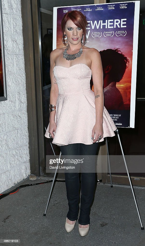 Actress Lindsey Beeman attends a screening of Logolite Entertainment & Screen Media Films' 'Somewhere Slow' at Arena Cinema Hollywood on January 31, 2014 in Hollywood, California.