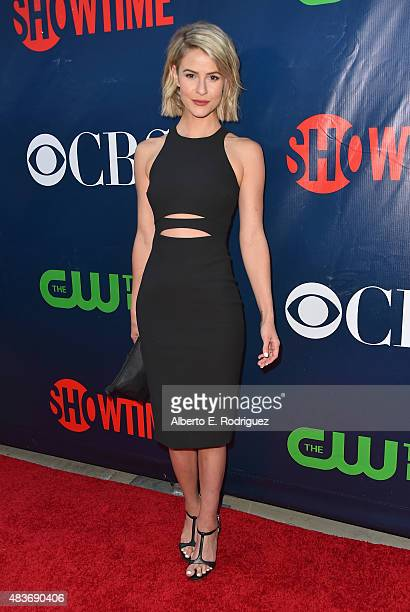 Actress Lindsey Godfrey attends CBS' 2015 Summer TCA party at the Pacific Design Center on August 10 2015 in West Hollywood California