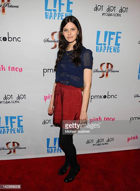 Actress Lindsey Kraft arrives to the premiere of Lfe Happens at AMC Century City 15 theater on April 2 2012 in Century City California