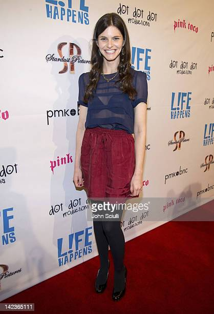 Actress Lindsey Kraft attends the Lfe Happens premiere at AMC Century City 15 theater on April 2 2012 in Century City California