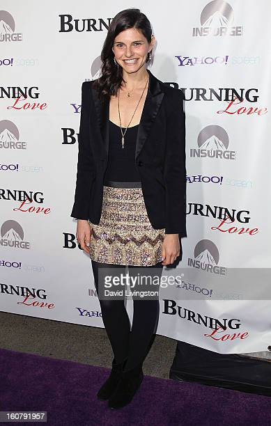Actress Lindsey Kraft attends the premiere of Burning Love Season 2 at the Paramount Theater on the Paramount Studios lot on February 5 2013 in...