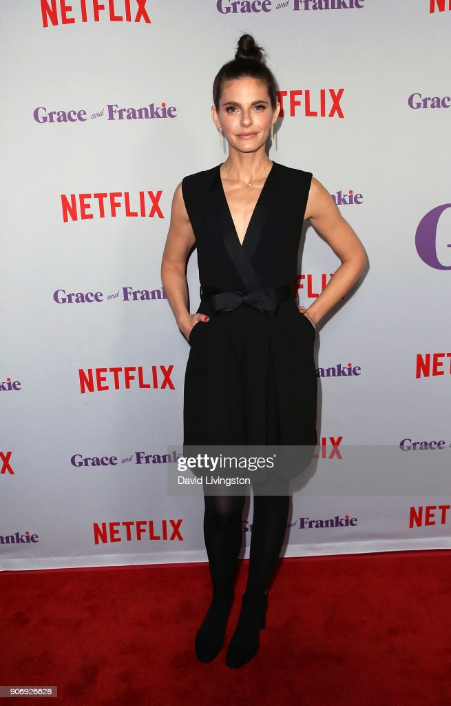 Actress Lindsey Kraft attends the premiere of Netflix's 'Grace and Frankie' Season 4 at ArcLight Cinemas on January 18, 2018 in Culver City, California.