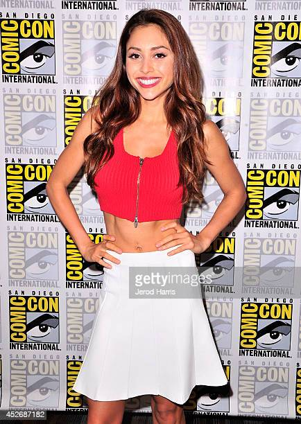 Actress Lindsey Morgan attends 'The 100' Press Line during ComicCon International 2014 at Hilton Bayfront on July 25 2014 in San Diego California