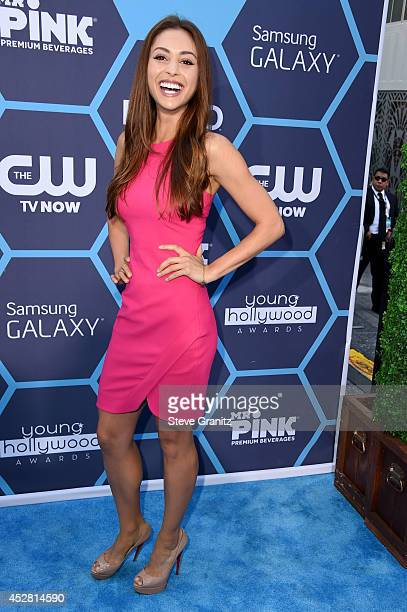 Actress Lindsey Morgan attends the 2014 Young Hollywood Awards held at The Wiltern on July 27 2014 in Los Angeles California