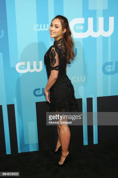 Actress Lindsey Morgan attends the 2017 CW Upfront on May 18 2017 in New York City