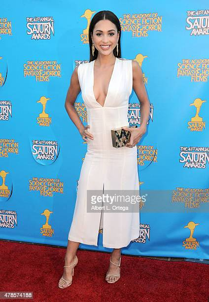 Actress Lindsey Morgan attends the 41st Annual Saturn Awards at The Castaway on June 25 2015 in Burbank California