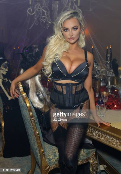 Actress Lindsey Pelas attends Adrienne Maloof and Vivica A Fox Haunted Mansion Party on October 26 2019 in Beverly Hills California