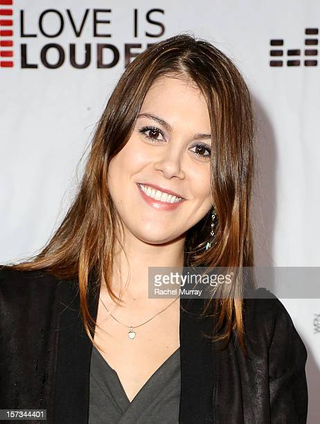 Actress Lindsey Shaw attends Chaz Dean's holiday party benefitting the Love is Louder Movement on December 1 2012 in Los Angeles California