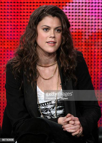 Actress Lindsey Shaw speaks onstage at the ABC '10 Things I Hate About You' QA portion of the 2010 Winter TCA Tour day 4 at the Langham Hotel on...