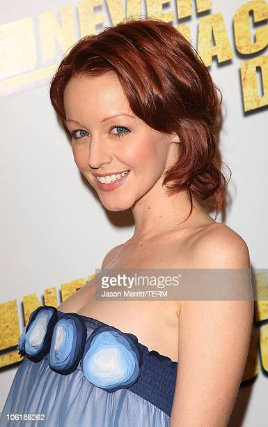Actress Lindy Booth arrives at the premiere of Summit Entertainment's 'Never Back Down' at the Cinerama Dome on March 4 2008 in Hollywood California