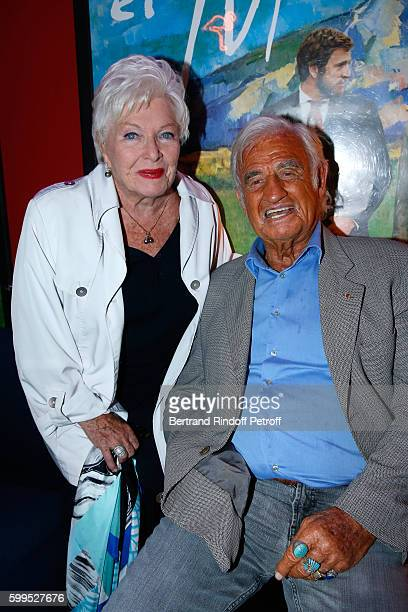 Actress Line Renaud and actor JeanPaul Belmondo attend the 'Cezanne et Moi' Premiere on September 5 2016 in Paris France