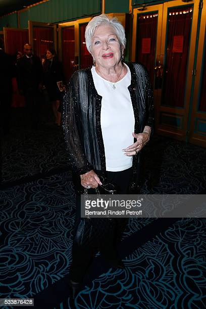 Actress Line Renaud attends La 28eme Nuit des Molieres on May 23 2016 in Paris France