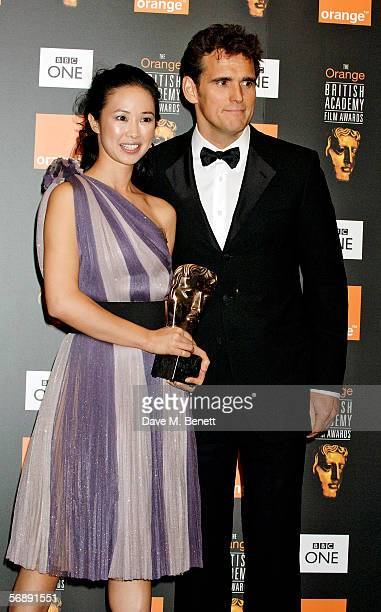 Actress Linh Dan Pham poses backstage in the Awards Room with the award for Film Not In The English Language for The Beat That My Heart Skipped...