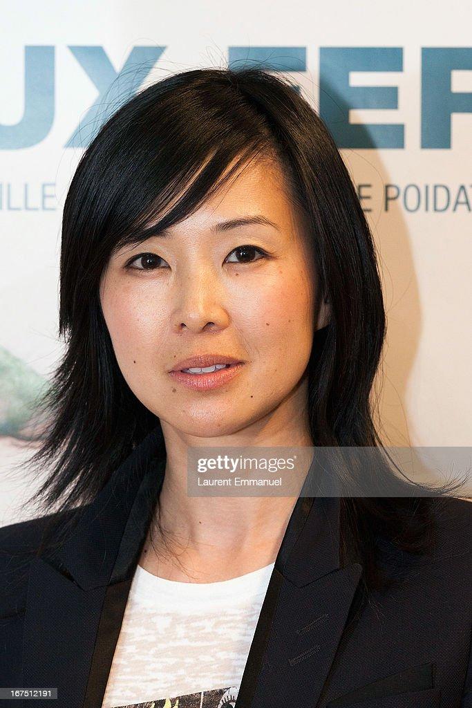 Actress Linh-dan Pham attends 'Les Yeux Fermes' Paris premiere at Cinema Le Saint Andre Des Arts on April 25, 2013 in Paris, France.