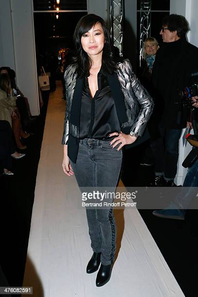 Actress LinhDan Pham attends the Maxime Simoens show as part of the Paris Fashion Week Womenswear Fall/Winter 20142015 Held at Lycee Jean Zay on...