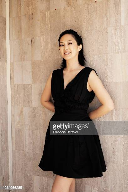 Actress Linh-Dan Pham poses for a portrait during the 74th Cannes International Film Festival, on July 14, 2021 in Cannes, France.