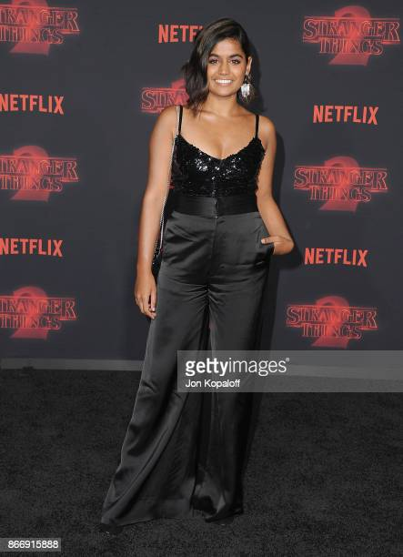 Actress Linnea Berthelsen arrives at the premiere of Netflix's 'Stranger Things' Season 2 at Regency Bruin Theatre on October 26 2017 in Los Angeles...