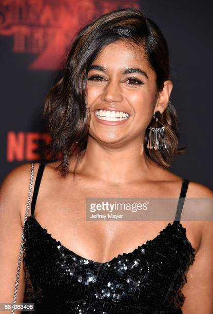 Actress Linnea Berthelsen arrives at the Premiere Of Netflix's 'Stranger Things' Season 2 at Regency Westwood Village Theatre on October 26 2017 in...
