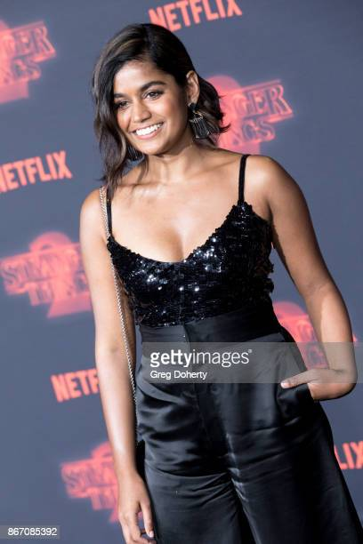 Actress Linnea Berthelsen attends the Premiere Of Netflix's 'Stranger Things' Season 2 at the Regency Bruin Theatre on October 26 2017 in Los Angeles...